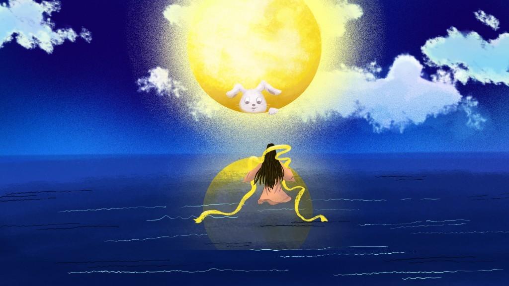 Öreg Hold és a nyúl ( japán népmese feldolgozás)